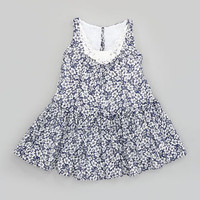 Ralph Lauren Childrenswear Floral-Print Crochet-Trim Dress, Sizes 2T-6X