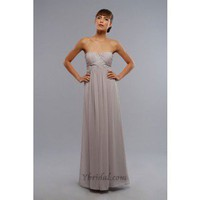 A-Line Strapless Floor-Length Chiffon Prom Dress SAL0972