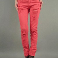 DESTROYED COLOR SKINNY-Jeans-Womens Jeans,Denim Jeans,High Waisted Jeans,Skinny Jeans,Flare Jeans,Trouser Jeans,colored denim jeans,ag jeans skinny denim ,colored denim jeans,women's cotton jeans,sexy jeans