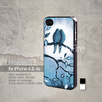 Romantic bird iPhone 5, iPhone 4/4S, Samsung Galaxy S2, Samsung Galaxy S3 , Samsung Galaxy S4, Blackberry Z10 Hard Case Black / White