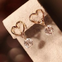 Diamond and Heart Fashion Earrings | LilyFair Jewelry