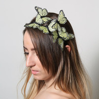 Yellow Butterfly Headband - woodland, fairy tale