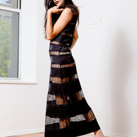 BCBG Maxazria Lace Long Black Dress- Found on Bib + Tuck