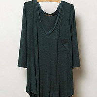 Anthropologie - Chiffon Trim V-Neck