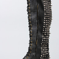 Jeffrey Campbell Boot Studded Lace Up in Black