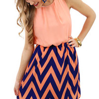 Polly Chevron Dress :: NEW ARRIVALS :: The Blue Door Boutique