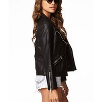Faux Leather Moto Jacket | FOREVER 21 - 2058987124