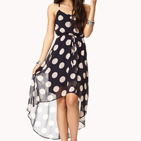 Femme Polka Dot High-Low Dress | FOREVER 21 - 2000050947
