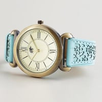 Mint and Gold Laser Cut Watch