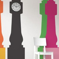 Grandfather Clock wall decal by Studio Jan Habraken for Blik