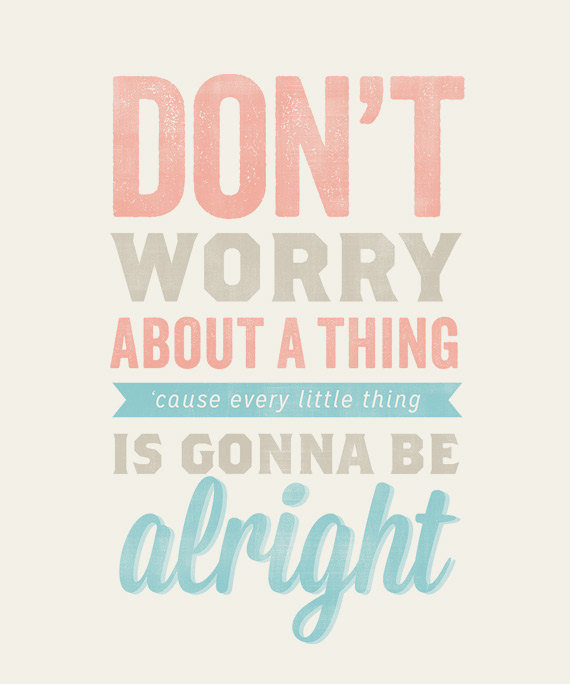 Dont Worry Lyrics Song Download: 8x10- From AugustPark On Etsy
