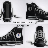Custom Game of Thrones: Night's Watch (Jon Snow) Converse Chucks