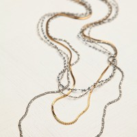 Free People Bead and Chain Layer Necklace