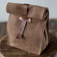 Waterproof Waxed Canvas Lunch Bag - $48