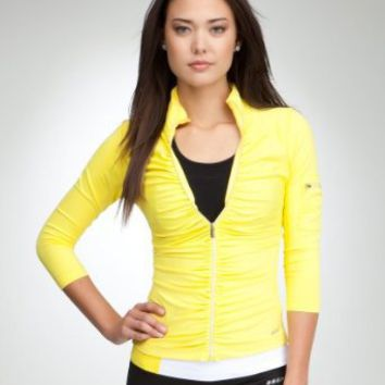 Ruched Funnel Jacket - BEBE SPORT
