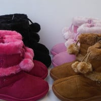 New Baby (toddler) Girls Winter Fur Boots, Many Colors, Sizes 5 to 12.