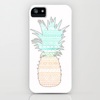 Tribal Pineapple  iPhone & iPod Case by Sunkissed Laughter