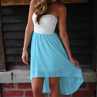 Show And Teal Dress: White/Teal | Hope's