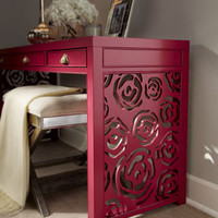 Red Egg - &quot;Janette&quot; Rose Console - Horchow