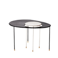 Matégot Kangourou Table white/black