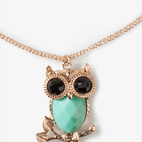 Faceted Owl Necklace | FOREVER 21 - 1041368325