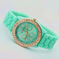 Mint Color Silicone Watch MQVB002 from topsales