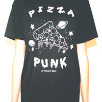 PIZZA PUNK T-SHIRT ( BLACK ) | 100 PERCENT ZERO