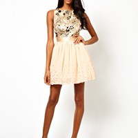 Little Mistress Jewelled Bodice Prom Dress at asos.com