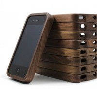 Generic Vintage Walnut Wood Case for iPhone 4 / 4s Color Wood
