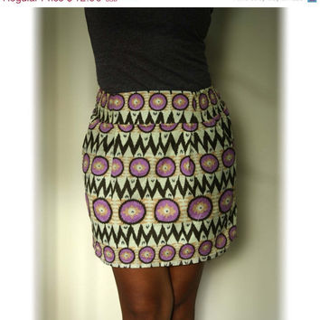 ON SALE Purple chevron Dark Brown Tribal MIni by LoNaDesign