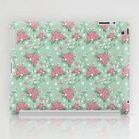 Vintage Roses Pattern iPad Case by heartlocked