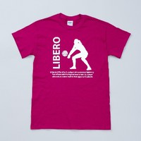 Glitter Libero Short Sleeve Shirt - Berry - Lucky Dog Volleyball