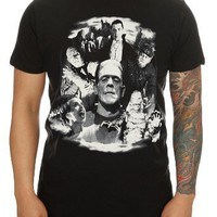 Rock Rebel Universal Studios Monsters Collage T-Shirt