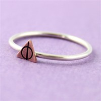 Deathly Hallows Stacking Ring - Spiffing Jewelry