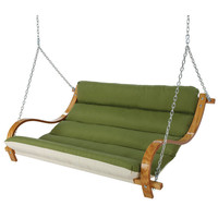 Deluxe Cushioned Double Porch Swing at Brookstone—Buy Now!