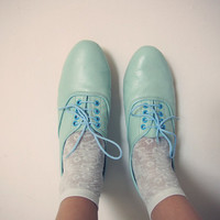 Pony oxfords flats in pastel tones by goldenponies on Etsy