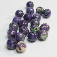 Turkey Turquoise Purple Green Gemstone 8mm