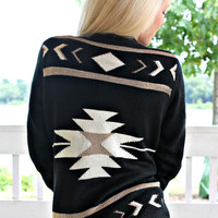 Gold Rush Tribal Cardigan