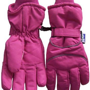 8-12yrs Reflector Piped Thinsulate Waterproof Ski Glove