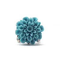 Blue Mum Ring, Antique Silver