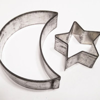 Moon And Star Cookie Cutter Set Germany Steel Silver Tone