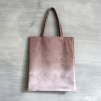 Purpertaupe ombre XL leather tote