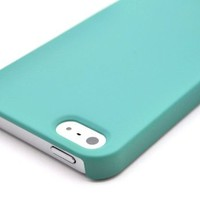 Wydan Premium One Piece Teal Matte Ultra Thin Hard Case for iPhone 5 5G Cover:Amazon:Cell Phones & Accessories