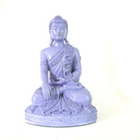 buddha statue, lilac, zen, buddhist home decor, buddhist, statues, asian art, spiritual, serene