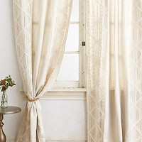Appliqued Lace Curtain