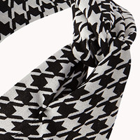 Knotted Houndstooth Headwrap