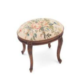 Renee Oval Footstool - French Country - Pierre Deux