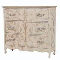 Champagne Vines French Chateau Chest