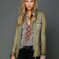 Sisii Womens Military Leather Jacket