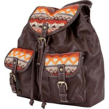 Ethnic Faux Leather Backpack 197548400 | accessories | Tillys.com